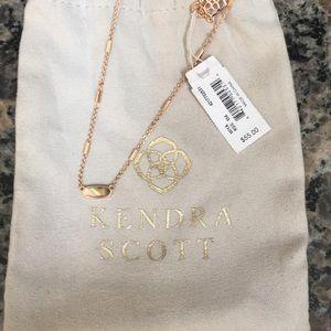 NWT Kendra Scott Miya Abalone Necklace Rose Gold